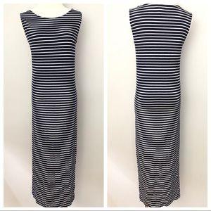 Isabel Oliver Ribbed Striped Sleeveless Dress 0086